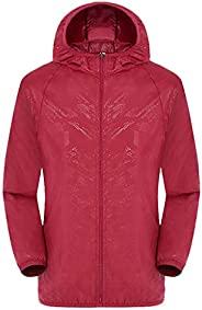 Women's Outdoor Windbreaker Lightweight Jackets Sun Protection Clothing Foldable Waterproof Raincoat with