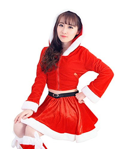 [YFFaye Women's Red Nightclub DS Christmas Party Dress] (James Bond Womens Costumes)