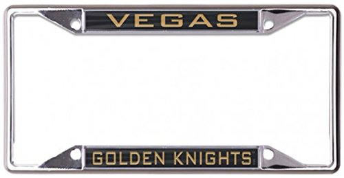 WinCraft NHL Vegas Golden Knights 6 x 12 Inlaid Acrylic/Metal License Plate Frame ()