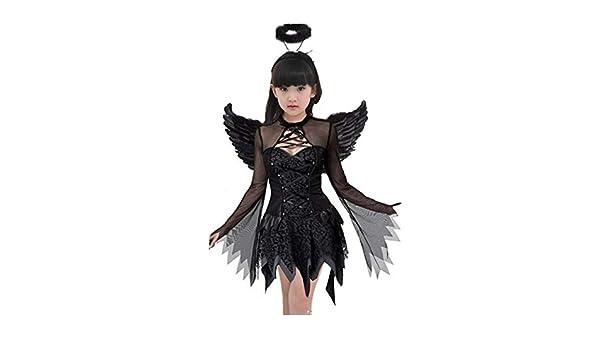2REMISE Disfraz De Halloween Fantasma Femenino Ángel Negro Disfraz ...