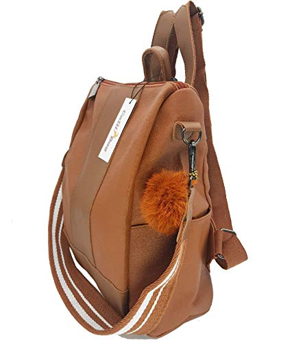 Lightweight Shoulder Waterproof Rucksack for Crossbody School Backpack Bag Daypack Women Tan Purse rr5wq4T