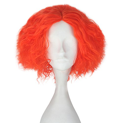 [Miss U Hair Synthetic Short Curly Hair Men Boy Red Party Cosplay lolita Wig (Red)] (After Party Alice Costume)