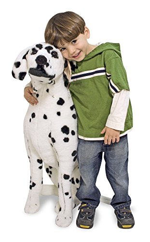 Melissa & Doug Giant Dalmatian - Lifelike Stuffed Animal Dog (over 2 feet tall)]()