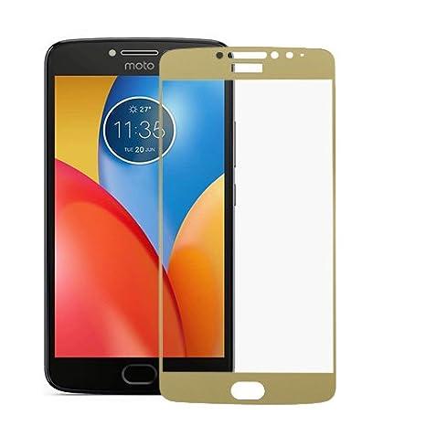 DigiPrints Tempered Glass Screen Protector Film Guard for Motorola Moto E4 Plus  Gold  Screen guards