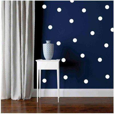(White Wall Decal Dots Polka +