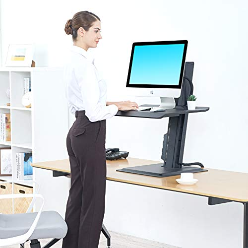 NB North Bayou Sit-Stand Workstation Laptop Sit Stand Desk Converter Fits All Laptop Computers or...