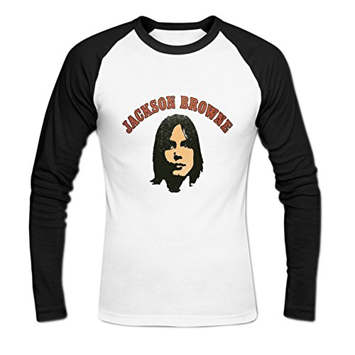 Men's Jackson Browne Baseball T-Shirts M White (Jackson Browne Rock Elite Best Of Jackson Browne Live)