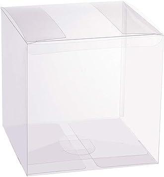 BENECREAT 10 Pack Caja Plegable Cajita Plástica 12x12x12cm Envase ...