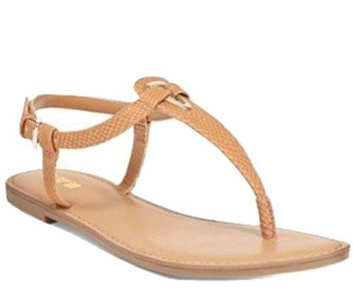 Bar Iii Velours Tongs Sandales Pantoufles Sandales Pour Femmes Sandales À La Mode Cognac 7 M Us