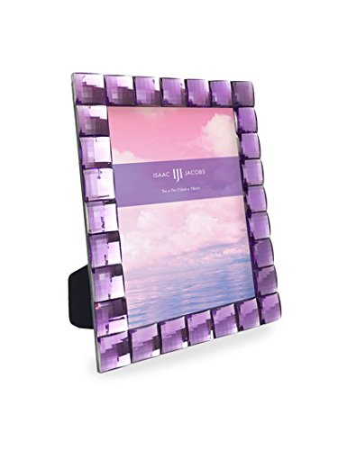 Isaac Jacobs International Jewel Picture Frame (5x7, Light - Frame Purple