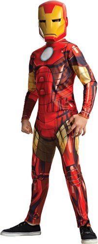 Rubies Marvel Universe Classic Collection Avengers Assemble Iron Man Costume, Child Medium (Tony Stark Halloween Costume)