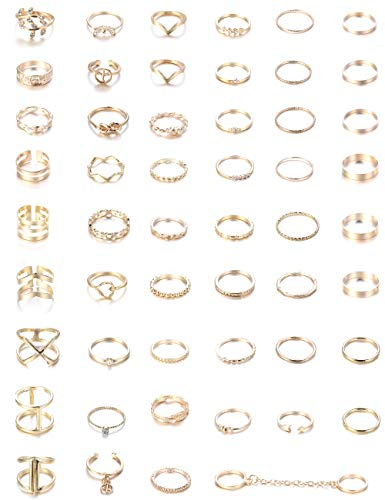 Thunaraz 52-109Pcs Vintage Silver Gold Knuckle Rings Women Midi Finger Ring Set for Women Stackable Ring (Best Knuckle Tattoo Ideas)