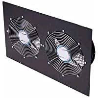 Enclosure Toppanel Double 10In Fan Black-RK5006