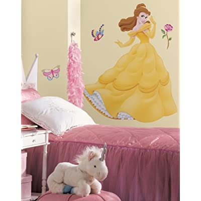 Roommates Rmk1464Gm Belle Peel & Stick Giant Wall Decal with Gems: Home Improvement