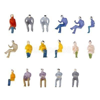 100 Painted Seated People Passenger Figures Model Train Railroad 1:100 HO TT