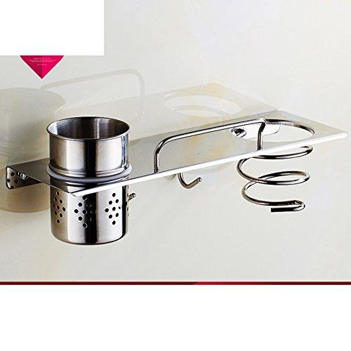 stainless steel hair dryer rack/ hair dryer/Bathroom racks/Wall mount hair dryer/Storage shelf -C on sale