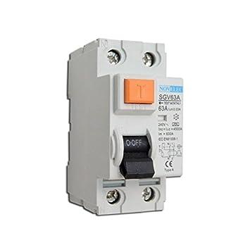 Interrupteur différentiel 63A 2P 30mA type A borne vis norme NF RCCB  NOVELEC SGV63A 73a9cf1e1442