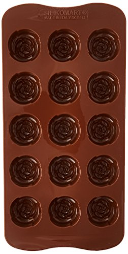 Silikomart Silicone Easy Chocolate Mold, Rose