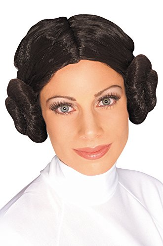 Star Wars Princess Leia Wig, Brown, One Size