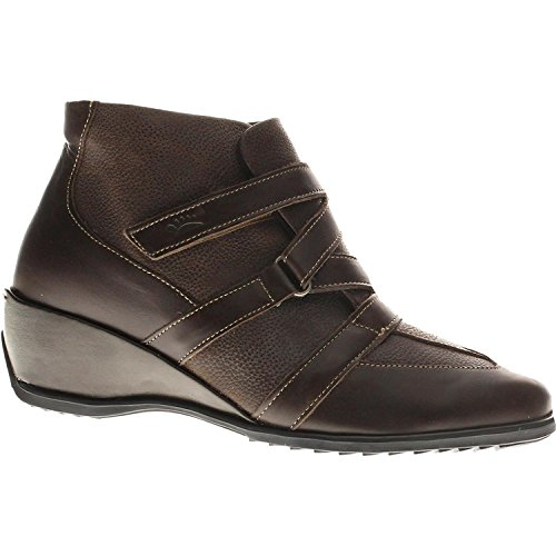Spring Step Women's Allegra Ankle Bootie, Brown, 39 EU/8.5 M - Womens Spring Step Allegra