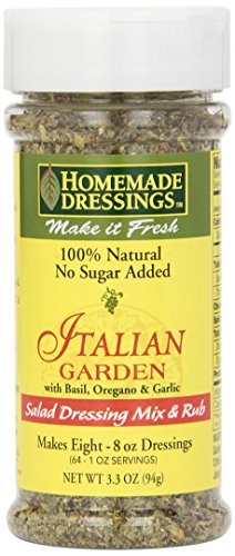 Homemade Dressings Italian Garden Salad Dressing Mix and Rub, 3.3 Ounce (Pack of (Garden Salad Dressing Mix)