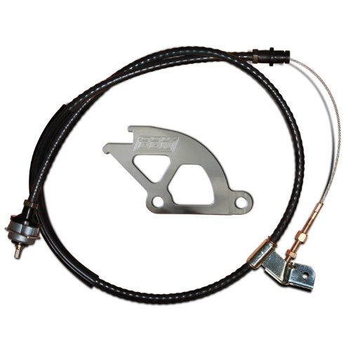 Clutch Cable Complete - BBK 1609 Adjustable Clutch Cable and Aluminum Double Hook Quadrant Kit (Heavy Duty) for Ford Mustang