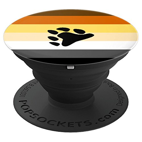 Bear Pride - Bear Paw Flag Furry LGBT Inclusive Design - PopSockets Grip and Stand for Phones and Tablets