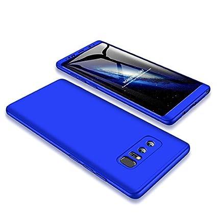 Funda Galaxy Note 8,Carcasa Samsung Note 8,Funda 360 Grados Integral Para Ambas Caras+Cristal Templado,[ 360°]3 in 1 Slim Fit Dactilares Protectora ...