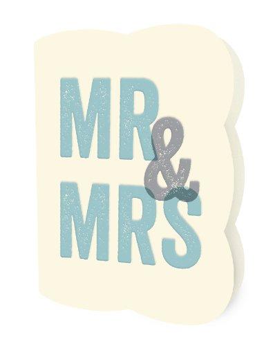 Blocky Mr & Mrs Letterpress Card by Night Owl Paper Goods