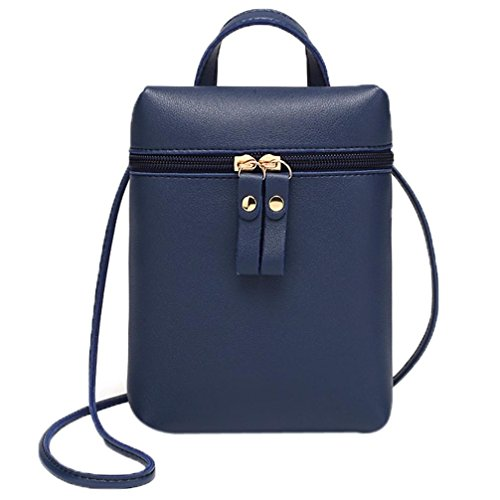 Shoulder Small Messenger Mini Bag Body Square Mini Handbags Purses Cross Bags Chic by Girls Inkach Blue Womens Coin z0q4q8