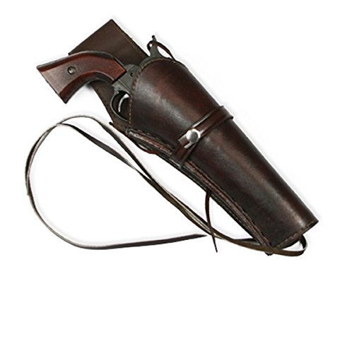 Long Barrel Revolver - Historical Emporium Men's Long Barrel Right Hand Plain Leather Western Holster Brown