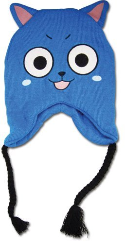Cap Face Happy (GE Animation Great Eastern GE-83012 Fairy Tail Happy Face Knit Beanie)