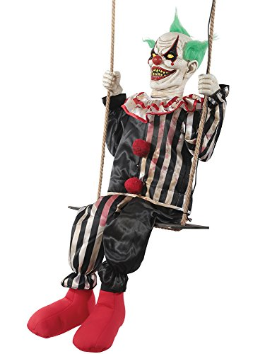 Morris Costumes Swinging Chuckles The Evil Clown Animated Prop Halloween Decoration ()