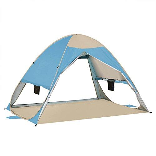 含む影響する口述するテント、クイックオープンUltralight Rainproofファミリーキャンプ用ビーチアウトドア