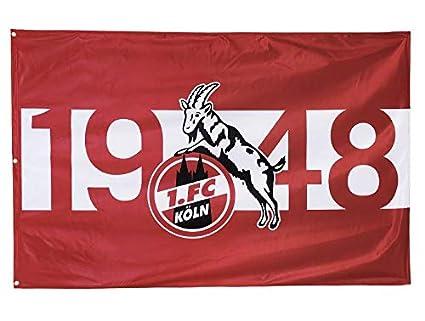 Hissfahne  Stadion  mit 2 /Ösen FC K/öln Fahne 1