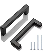 """10 Pack Stainless Steel Cabinet Pulls Kitchen Cabinet Handle, Kitchen Cupboard Handles Hole Distance 4"""", Overall Length 4-1/2"""", Width 1/2"""""""