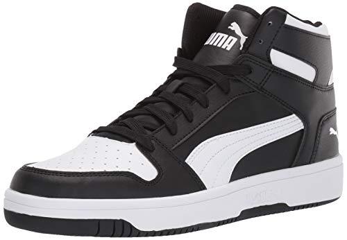 PUMA Rebound Layup Shoe, Black White, 10.5 M US