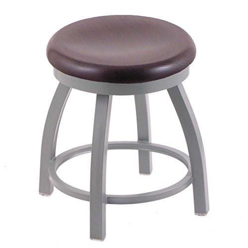 Holland Bar Stool Co. 802 Misha Vanity Stool with Anodized Nickel Finish and Swivel Seat, 18