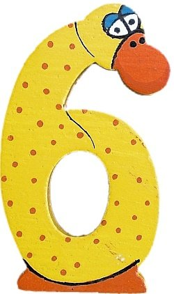 1 St/ück Bieco 08-0003412gl Holzzahl Gleich Tier-Design Pammy