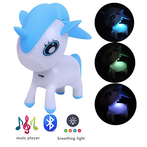 Mini Unicorn Bluetooth Speaker (Portable Wireless Speaker with Dimmable RGB Color Change LED)-Musical Player for iPhone/iPad/iPod/Samsung/HTC/Tablets ...]()