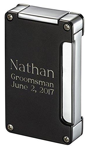 Personalized Visol Zidane Black Matte Cigar Lighter with Free Engraving