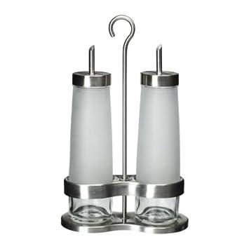 IKEA DROPPAR, 3 pezzi, olio e aceto, in vetro smerigliato, in ...