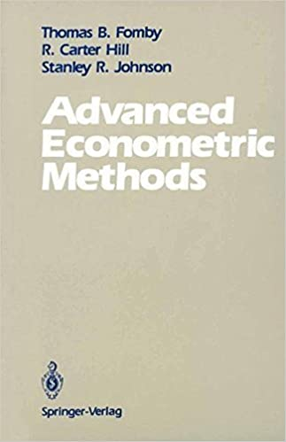 Book Advanced Econometric Methods by Thomas B. Fomby (1988-12-01)
