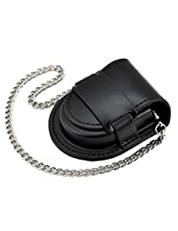 Vintage Pocket Watch Bag Case Pouch Purse Holder with Antique Bronze Chain