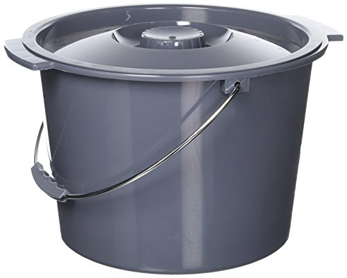 12 Quart Commode - Replacement Commode bucket with Lid, 12 qt. / 2 gallon