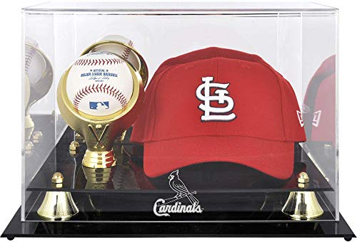 St. Louis Cardinals Acrylic Cap and Baseball Logo Display Case ()