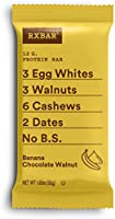 RXBAR, Chocolate Chip, Protein Bar, 1.83 Ounce (Pack of 24) Breakfast Bar, High Protein Snack