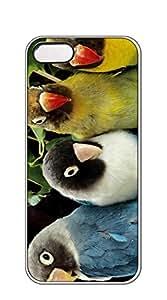 TUTU158600 Cute Cartoon Back Cover iphone5s case cover - Blue Parrots