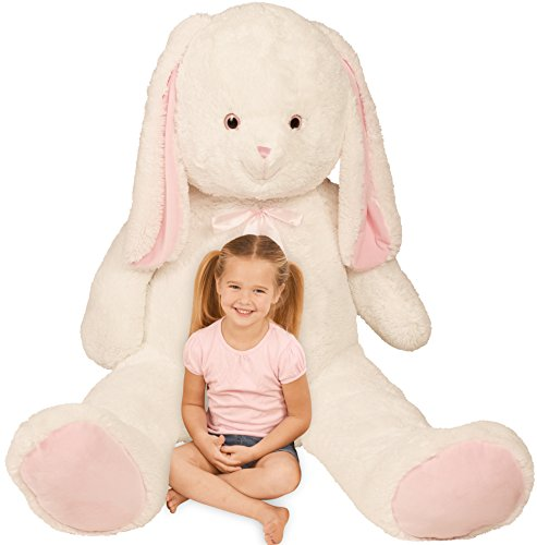 Giant Stuffed Easter Bunny Plush; Over 5 Feet High, 7' w/ Ears