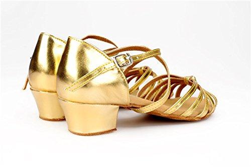 3 femme Heel bal Salle Gold de 5cm Miyoopark vAXq4H